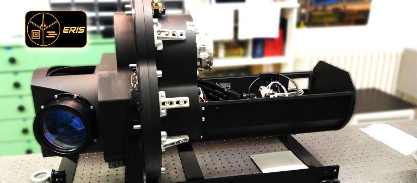 La Calibration Unit di ERIS sul banco di test. L'unità è stata realizzata presso i laboratori dell'INAF-OAAb.